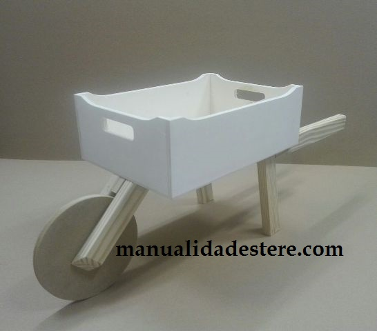 Carretilla para decorar de madera producto de manualidades - Productos de madera para manualidades ...
