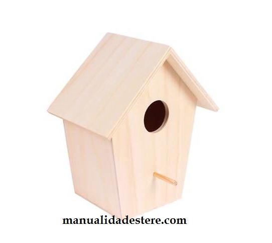 Casa casita p jaros nido madera decoraci n manualidades madera - Articulos de madera para manualidades ...
