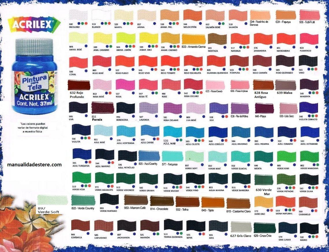 Pintura para tela acrilex precio inigualable resiste - Nombres de colores de pinturas ...